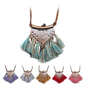 Jewelry - Vintage Gold Fringe Tassel Statement Necklace